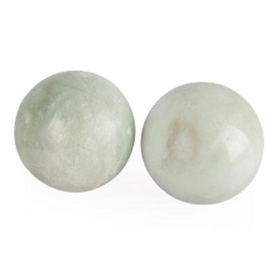 Набор шаров массажных, 2 шт, D-35 мм, нефрит