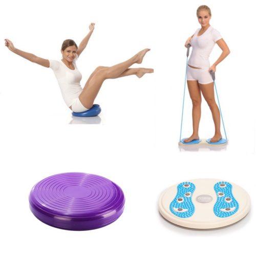Гимнастические диски и балансировочные подушки