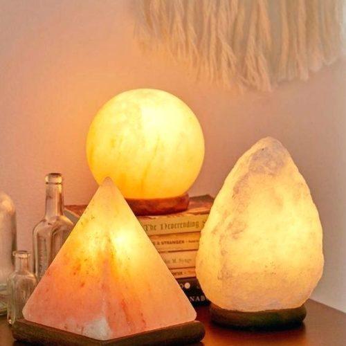 Солевые лампы и подсвечники