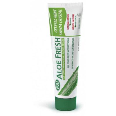 Зубная паста гелевая натуральная ALOE FRESH Crystal Mint retard профилактика кариеса 100мл, арт.0636