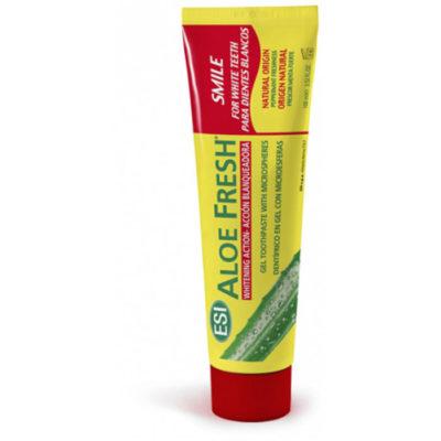 Зубная паста гелевая натуральная ALOE FRESH Smile отбелививающ., с осветл.действием 100мл, арт.0629