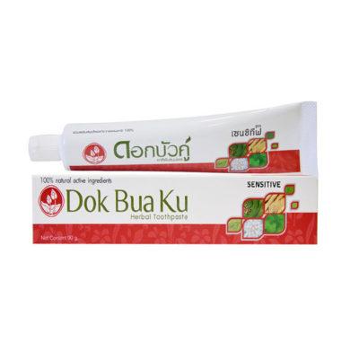 Зубная паста для чувствительных зубов с травами TWIN LOTUS Dok Bua Ku 90гр, арт.9313