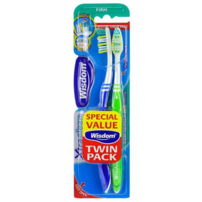 Зубная щетка Wisdom Xtra Clean FirmTwinpack (2шт) многоур.щетина, выступ. край, жестк. арт.2362 22
