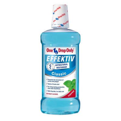 Ополаскиватель для полости рта антибактериальный One Drop Only EFFEKTIV Gingival, 500мл. 17.000