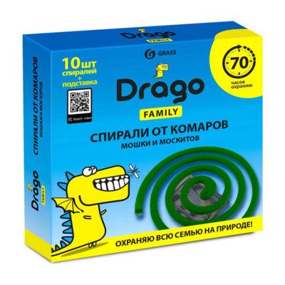 Спирали от комаров Drago Family 10шт