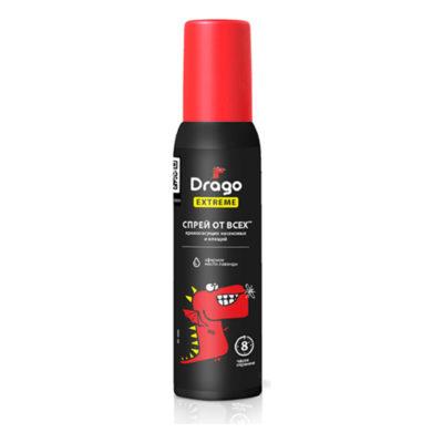 Спрей от кровосущих насекомых и клещей Drago Extreme 100 мл