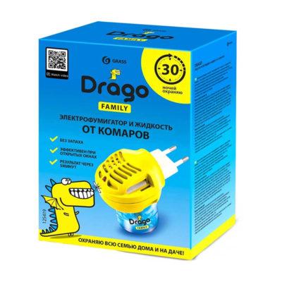 Электрофумигатор и жидкость от комаров Drago Family